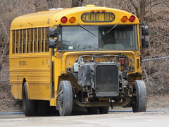 First Student #138 (ThoseGuys119) Tags: junk schoolbus blackout retired freightliner thomasbuilt fs65 partsbus wallkillny firststudentinc wallkillvalleyschoolbusservicesinc