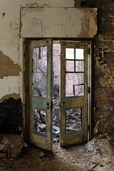 IMG_0099R (Jogi Blanto) Tags: urban abandoned broken overgrown hospital peeling paint doors decay exploring urbandecay explore forgotten peelingpaint crumbling urbex urbanexplore