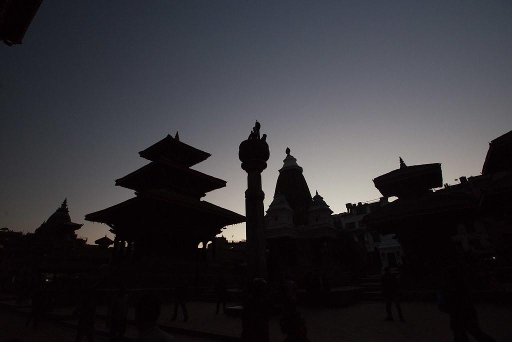 Sunset at Paten Durbar Square