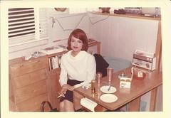 Kent Satisfies Best, 1964 (STUDIOZ7) Tags: woman kitchen girl radio kent 60s cigarette smoking 1960s smoker miniskirt sixties