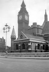 Westminster 1937 (yogurtspy2011) Tags: london westminster housesofparliament bigben clocktower negative 1937