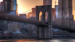 BrooklynBridgeDesktop.jpg (John Bauder Photo) Tags: nyc newyorkcity canon brooklynbridge hdr highdynamicrange postprocessing photomatix nycsunset newyorksunset canonhdr canoneos70d canoneos70dhdr