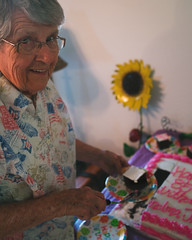 The Icing on the Cake (NEXtographer) Tags: 85th emount birthday sony fe35mmf14za grandma cake slice life smile happiness people portrait grandmajune oklahoma