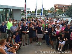 July 9, 2016 - The community comes together to support the Thornton and Dallas police departments. (Thornton Police Department)