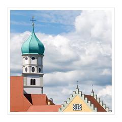 Wasserburg / Bodensee (Splitti68) Tags: europa europe deutschland germany badenwrtenberg wasserburg architektur architecture archtectur quadrat square rahmen kirche kirchturm giebel wolke wolken cloude splitti splitti68 splittstser splittstoesser bodensee