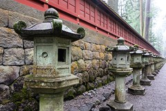 Nikko Toshogu V (Douguerreotype) Tags: shrine nikko rain buddhist temple japan lantern wall