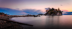 Whytecliff Park Moment (Sworldguy) Tags: ocean longexposure sunset sky seascape tourism beach skyscape landscape outdoors island nikon waterfront hiking britishcolumbia shoreline rocky wideangle diving calm northshore howesound serene dslr tidal whytecliffpark westvancouver marinepark bachelorbay d7000 whyteislet