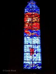 Carcassonne - Eglise Notre-Dame des Carmes (Fontaines de Rome) Tags: aude carcassonne eglisenotredamedescarmes eglise notre dame carmes vitrail enlvementduprophteelie enlvement prophte elie grardmilon grard milon