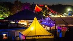 yellow campground (werner boehm *) Tags: wernerboehm tent tollwood munich nightshot