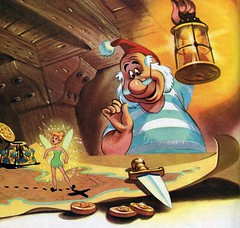 Mr. Smee and Tinkerbell by Al Dempster (Tom Simpson) Tags: aldempster peterpan disney illustration vintage littlegoldenbook childrensbook animation mrsmee tinkerbell map