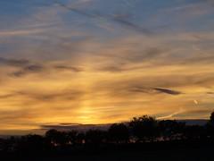 Sun pillar (Violet Planet) Tags: sun pillar phenomenon halo effect ice crystals meteorology atmosphere clouds sunset