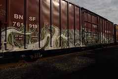 KATER (TheGraffitiHunters) Tags: street art train graffiti colorful paint tracks spray boxcar graff kater freight benched benching