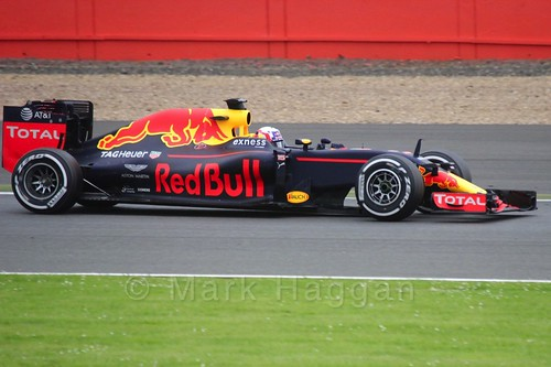 Pierre Gasly driving for Red Bull during Formula One In Season Testing at Silverstone, July 2016