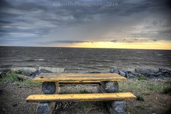 Table By The Ocean (savillent) Tags: arctic ocean north water waterscape clouds tuktoyaktuk northwest territories canada travel weather climate nikon savillent july 2016