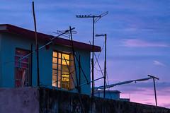 Havana Rooftop (Mitch Ridder Photography) Tags: cuba cuban island caribbean caribbeanisland largestcaribbeanisland communist communistcountry mitchridder mitchridderphotography mitchridderphotographyallrightsreserved2016 workshop photoworkshop cameravoyages travel travelphotography streetphotography havana havanacuba islandofcuba cubascapitol cubancapitol sunset sunsetglow bluehour rooftop tvaerials tvantennas