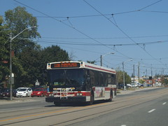 New Flyer #7342 (Edward B.'s Pictures) Tags: torontoontario torontotransitcommission ttc ttcbus newflyer d40lf 7342 longbranch longbranchontario 110bislingtonsouth lakeshoreblvdw 110islingtonsouth
