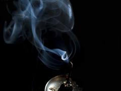 Blue Sense (theGR0WLER) Tags: blue black white smoke fragrance light canon uk powershot sx50hs incense