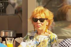 Portrait (Natali Antonovich) Tags: belgiancoast portrait seasideresort seashore seaside seaboard lifestyle relaxation oostende terras cafe stare reverie sunglasses tradition belgium belgique belgie