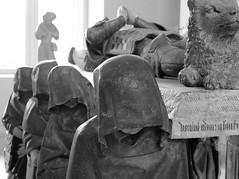 Monks (photography by Paul Reid) Tags: death paris france prayforparis louvre thelouvre europe euro2016 gallery artgallery firstanniversary paperanniversary blackandwhite mono