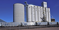 OMAX coal hopper-North Platte, Nebraska. (Wheatking2011) Tags: omax omaha public power district new coal hopper union pacific railroad north platte nebraska september 2002