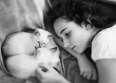 With Kittens (Alina Mayboroda) Tags: alinamayboroda photografer portrait children family kittens blackwhite