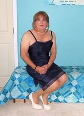 White Shoes (Trixy Deans) Tags: crossdresser cd cute crossdressing crossdress classic classy slip satin satindress xdresser sexy sexytransvestite sexyheels sexylegs sexyblonde hot heels highheels heelssexy tgirl tv transgendered transsexual trixydeans