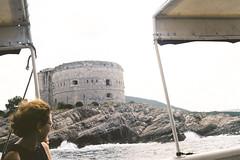 Forte (alekspaunic) Tags: ocean blue summer nature architecture canon bay boat rocks canona1 analogphotography forte montenegro adriaticsea photooftheday naturelovers filmphotography bokakotorska frenchwoman bayofkotor zanjice archilovers