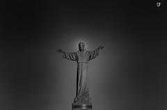 Cristo de los Pescadores - Christ of the Fishermen (Gerarangel1970) Tags: monument christ jesus bw southtexas southpadreisland beach ocean fisherman pescadores port isabel isla blanca