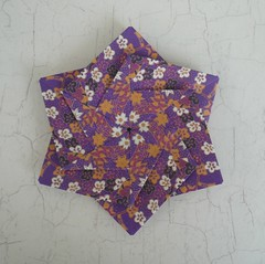 Two-Faced Origami Flower (Handmade by Deb) Tags: handmade japanese paper craft origami flower modular