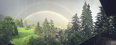 IMG_3621 (Axel Mlyr) Tags: villars gryon suisse switzerland moutains alps rainbow doublerainbow colors summer balcony myview iphonemade iphone iphone6 landscape