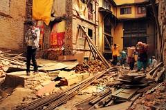 Rebuilding ( Jamie Mitchell) Tags: earthquake natural disaster nepal nepalese nepali kathmandu patan social rubble damage ruin rebuild house home destruction travel
