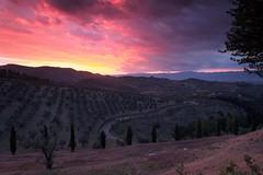 Tuscany Sunset (Marcel Cavelti) Tags: tuscany toskana toscana sunset artimino carmignano