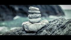 Cairn (Sean Batten) Tags: ilfracombe england unitedkingdom gb cairn pebbles beach nikon d800 2470 sea waves cinematic devon tunnelsbeaches