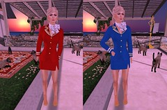 welcome aboard Piper Airways! (karenpiper_uk) Tags: airhostess airstewardess meliimako outfit skirtsuit mesh sl secondlife cabincrew