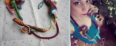 'numberland' (maslikarija) Tags: necklace neckpiece textile textilejewellery textilenecklace fiberart colorful infinity love gambling numbers heart secretplace