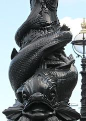 Lamp Post Base, Lambeth, London, England (Amethinah) Tags: 2013 uk unitedkingdom greatbritain england london lambeth castiron fish lamppost