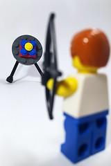 Take aim #Lego (mattosborne325) Tags: rio2016 sport archer archery minifigures minifigs minifigure minifig olympics rio lego