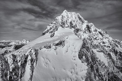 Southern Alps (Pat Charles) Tags: newzealand nz southisland southern alps alpes mountains winter snow skiing cold blackwhite bw monochrome peak summit top apex zenith pinnacle acme crest crown crag hilltop vertex rock ice nikon