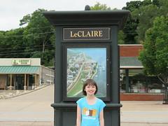 Emily visits LeClaire, Iowa (JJP in CRW) Tags: iowa leclaire geibfest signs