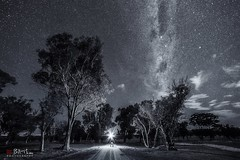 The Dark Road. (Bill Thoo) Tags: blackandwhite thedarkroad milkyway longexposure sony a7rii ngc samyang 14mm obley nsw australia night astrophotography landscape monochrome travel stars explorer