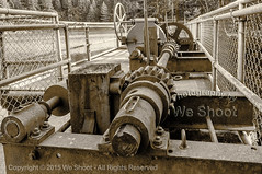 Another Look At Rust And A Gear Named Steve (weeviltwin) Tags: blackandwhite sepia vancouver washington rust dam machine rusty gear tint machinery rusted wa rusting toned gears tone tinted axle gearing weshootcom