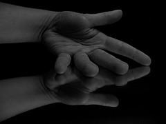 aparture no.3 (PleaseInsertName) Tags: bw white black reflection mirror shadows hand minimalistic