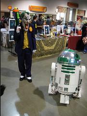 Joker & R2-D2 Cosplay (Trinity All-Stars) Tags: beach star costume long comic cosplay r2d2 joker wars con 2010 lbcc lbcc2010