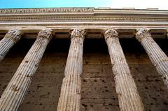 Columns of Rome (MoniqueSherman) Tags: street sky italy sun rome building up stone spring break pantheon bank holes springbreak designs marble 2015 italyandgreece