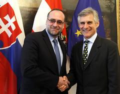 Generalsekretär Linhart trifft Staatssekretär von Slowakei, Javorcik