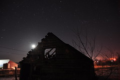 Abandoned. (Trey Eden Photography) Tags: sky ontario abandoned night barn stars evening shed property moonlight newburgh starlight