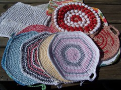 potholders (sandySTC) Tags: crochet pot cotton twine holders bakers potholders