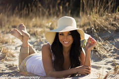 Chloe (Brad Darling Photography) Tags: portrait beach girl beautiful hat canon photography photo model pretty photographer photoshoot picture naturallight sunny portraiture canonrebelt3i