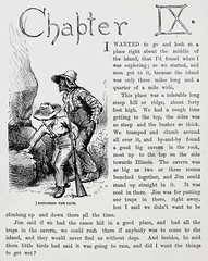 """""""Jim and Huck explore the cave."""" Art by E. W. Kemble from """"Adventures of Huckleberry Finn"""" by Mark Twain (1885). First U.S. edition. (lhboudreau) Tags: illustration book etching drawing rifle illustrations drawings books blackman slavery webster slave marktwain bookart 1885 hardcover etchings samuelclemens huckfinn kemble firstedition vintagebook huckleberryfinn chapterheading hardcovers classicfiction charleswebster hardcoverbooks chapter9 hardcoverbook adventuresofhuckleberryfinn classicstory runawayslave charleslwebster fugitiveslave classictale chapterix negroslave ewkemble firstamericanedition exploringthecave jimandhuck firstusedition slavejim charleslwebsterco charleslwebsterandcompany"""