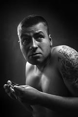 Bad Habit (Tomas.Kral) Tags: red portrait selfportrait self canon studio 50mm diy autoportrait czech prague cigarette diagram addicted cz tobacco strobe lightsource speedlite hardlight strobist yongnuo yn560ii dedpxl09